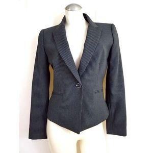 Tahari ASL Size 6 Gray Pinstripe Blazer